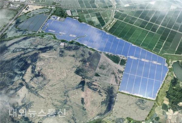새만금 육상태양광 3구역 발전사업 조감도.(사진 새만금개발공사)